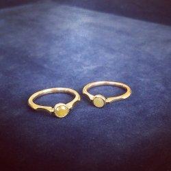 <1点モノ>ナチュラルダイヤモンドのミルグレインリング K10