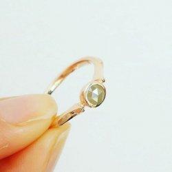 <1点モノ>ナチュラルダイヤモンドのリング K10