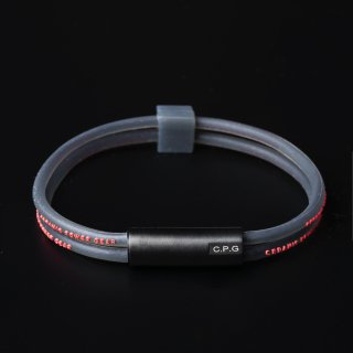 NEW STAINLESS TWIN BRACELET(Clear Black × Red)
