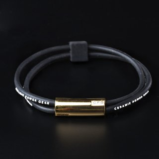 【NEW】STAINLESS TWIN BRACELET(Black x White)