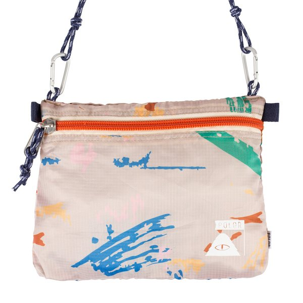 STUFFABLE POUCHES / LARGE - KHAKI SPLATTER PRINT