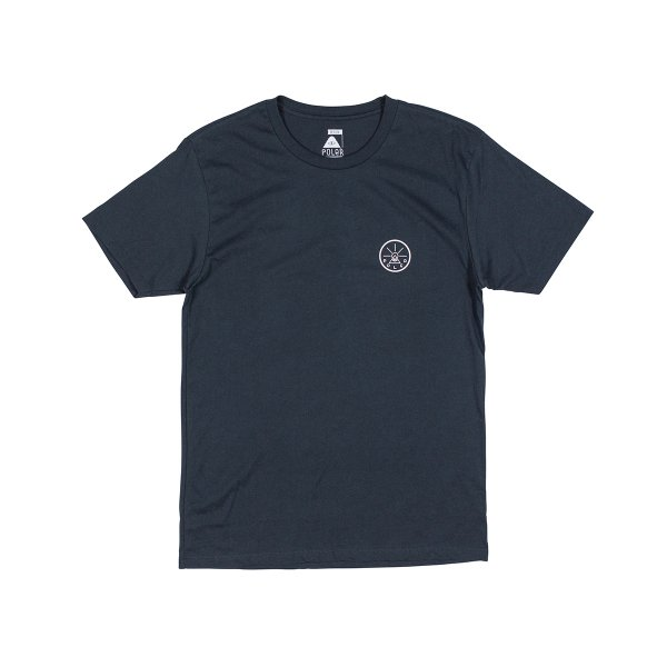 GOLDEN CIRCLE TEE - NAVY / WHITE
