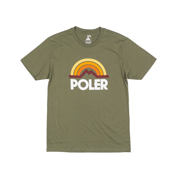 MOUNTAIN RAINBOW TEE - OLIVE