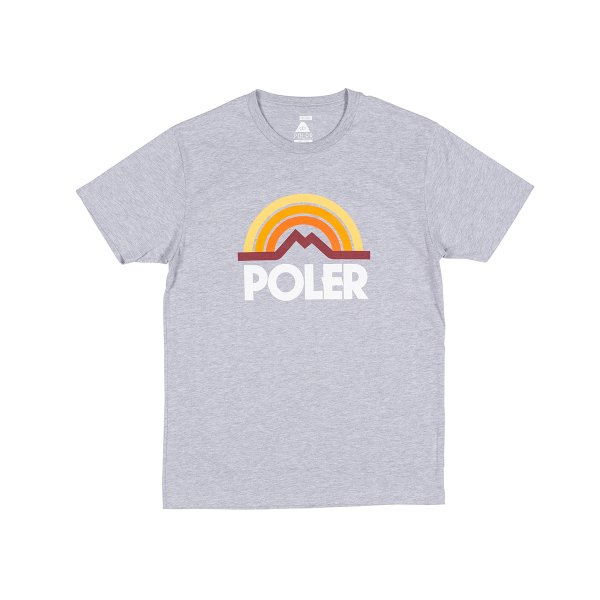 MOUNTAIN RAINBOW TEE - GRAY HEATHER