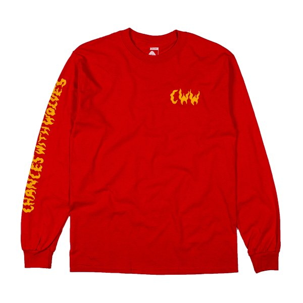 CWW LONG SLEEVE TEE - RED