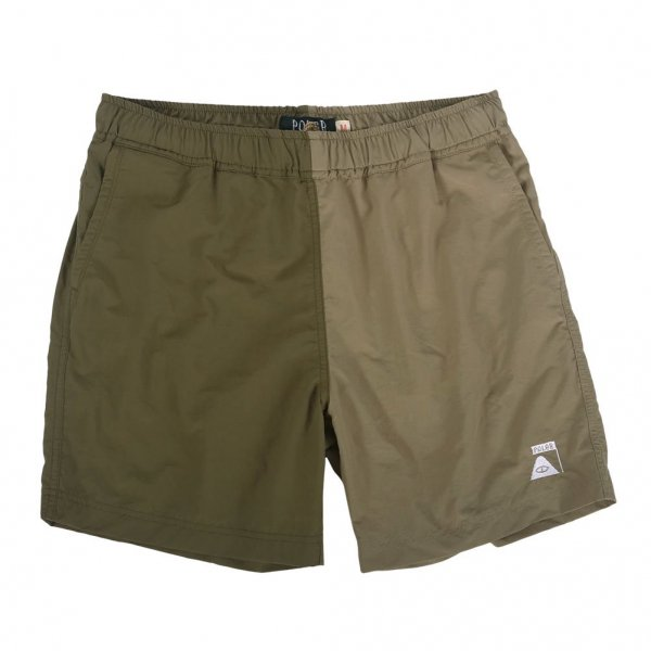 JAPAN LIMITED CAMP VOLLEY SHORT -OLIVE/BEIGE-
