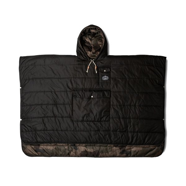 THE REVERSIBLE CAMP PONCHO - BLACK