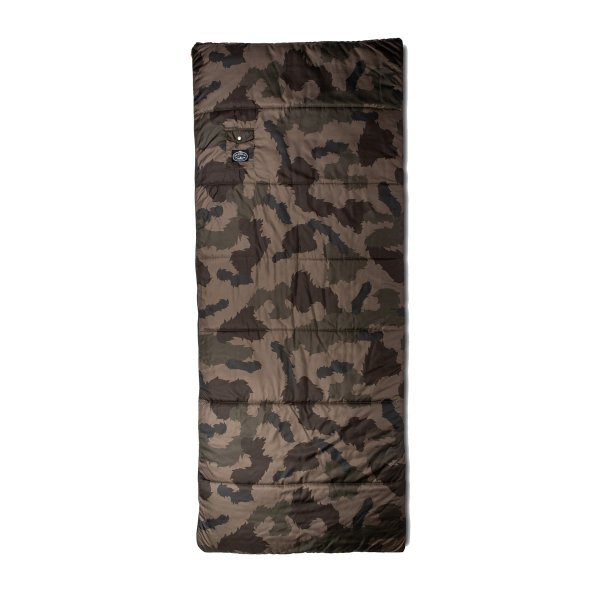 THE REVERISBLE SLEEPING SACK  - OLIVE FURRY CAMO