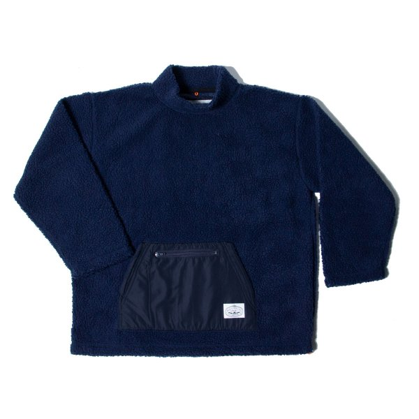 90'S BOA MOCK NECK - NAVY