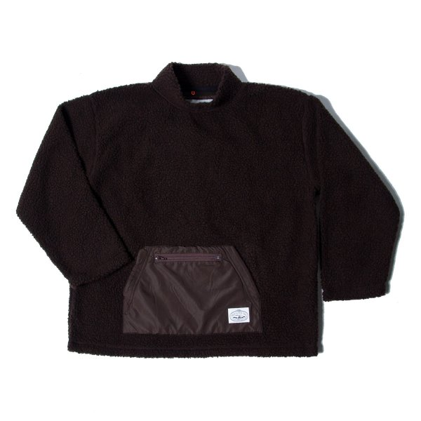90'S BOA MOCK NECK - CHOCOLATE