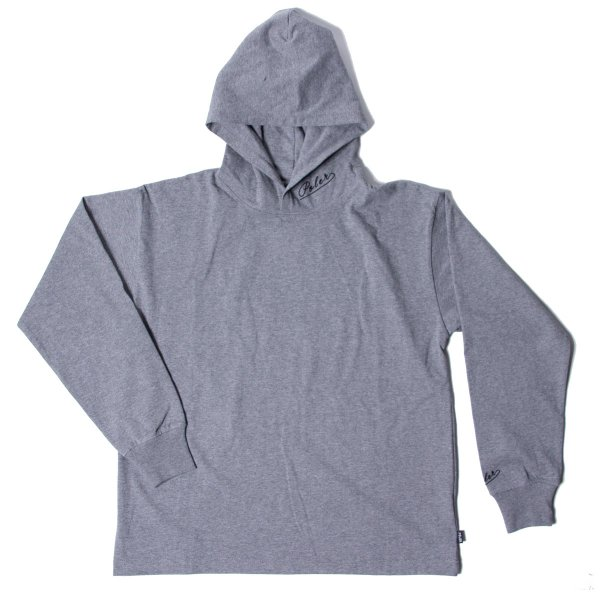 90'S ARROWFONT EMB JERSEY HOODIE - GRAY HEATHER