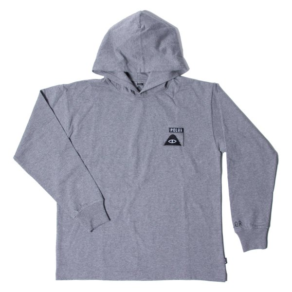 90'S SUMMIT EMB JERSEY HOODIE - GRAY HEATHER