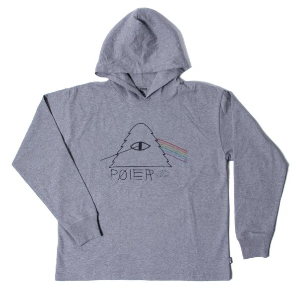 90'S PSYCHEDELIC JERSEY HOODIE - GRAY HEATHER