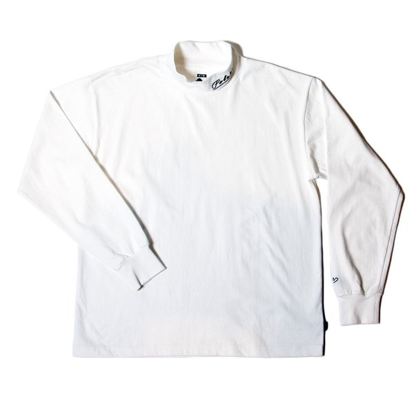 90'S ARROWFONT EMB MOCK NECK - OFF WHITE