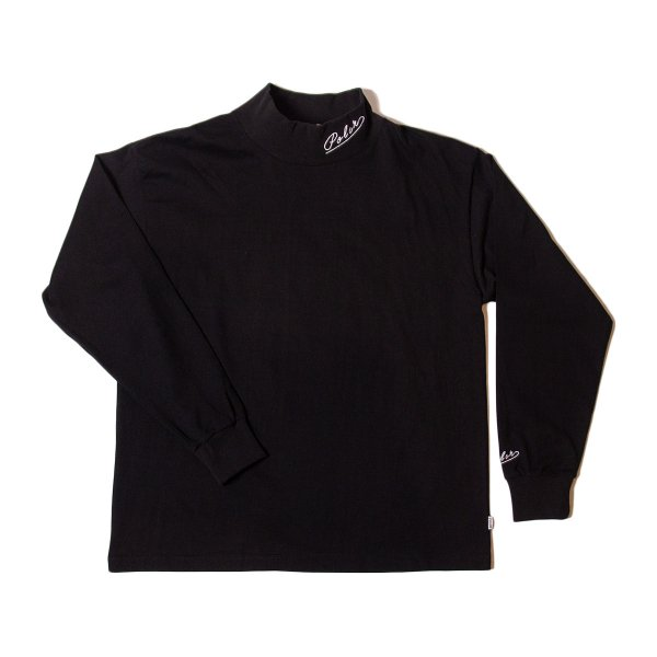 90'S ARROWFONT EMB MOCK NECK - BLACK