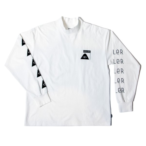 90's SUMMIT-CYCLOPS MOCK NECK L/S TEE - OFF WHITE