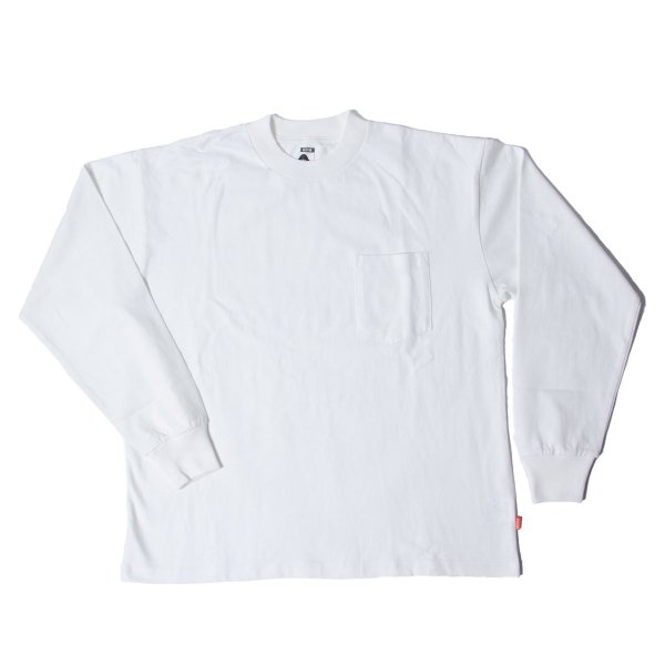 90'S HAVYWEIGHT JERSEY POCKET L/S TEE - OFF WHITE