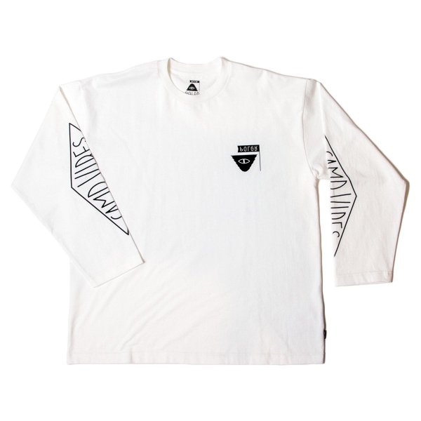 REVERSE SUMMIT-CAMPVIBES  JERSEY  L/S TEE - OFF WHITE