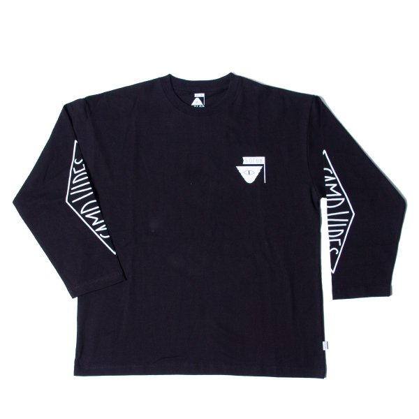 REVERSE SUMMIT-CAMPVIBES  JERSEY  L/S TEE - BLACK