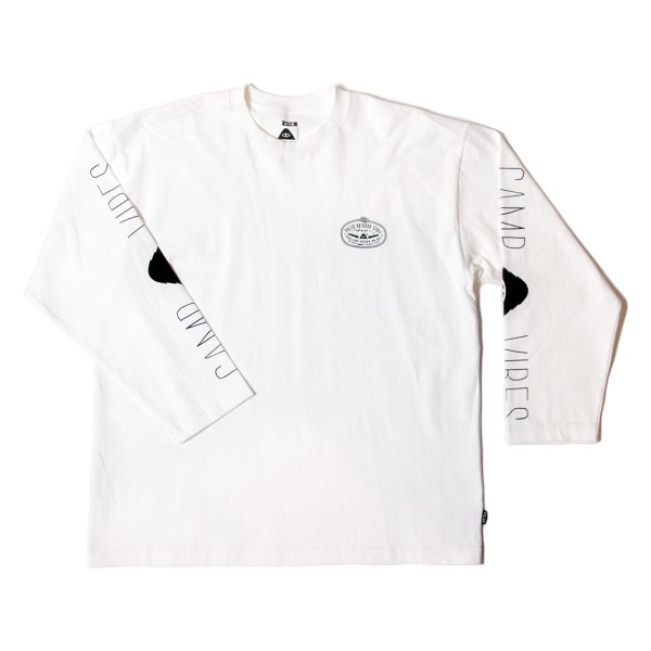 LASO-CAMPVIBES JERSEY L/S TEE - OFF WHITE