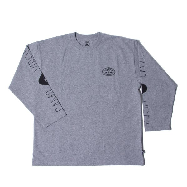 LASO-CAMPVIBES JERSEY L/S TEE - GRAY HEATHER