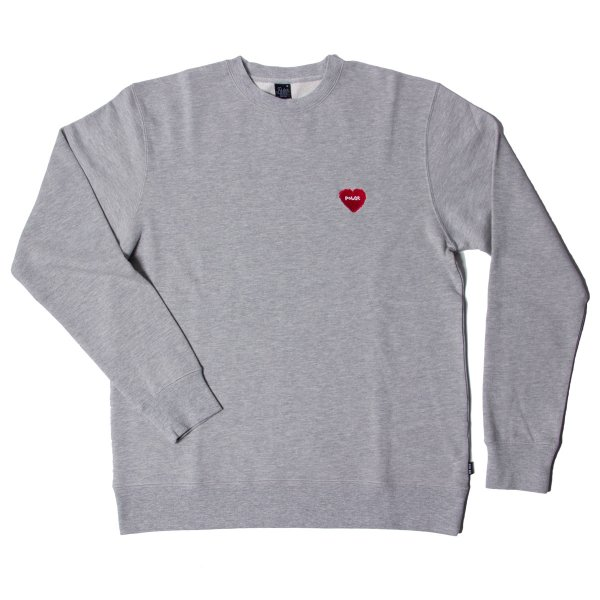 FURRY HEART CREW - GRAY HEATHER