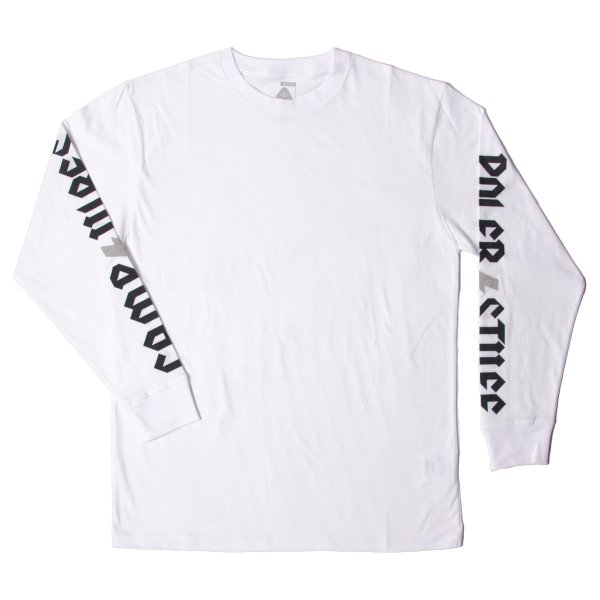 THUNDER FLASH  L/S TEE - WHITE