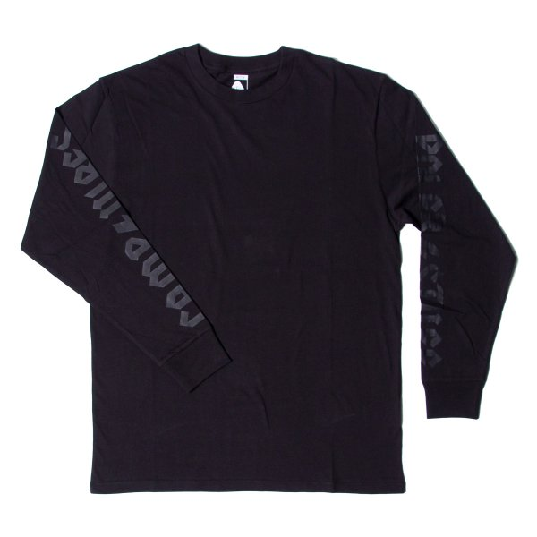 THUNDER FLASH  L/S TEE - BLACK