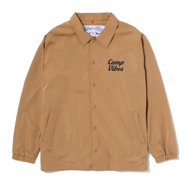 CAMP VIBES COACH JACKET - BEIGE