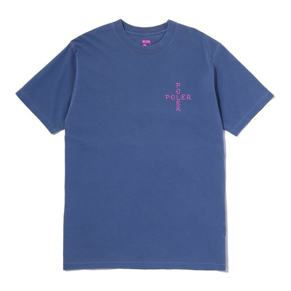90S FOLLOW ME PIGMENT TEE - BLUE