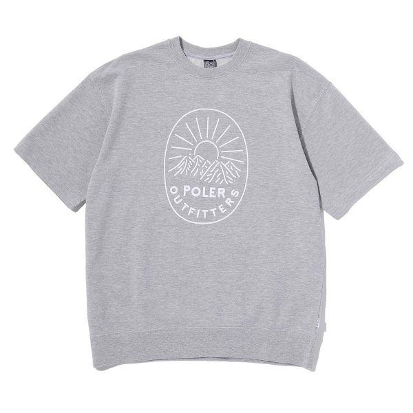 MCQUEEN CREW NEACK SWEAT S/S TEE - GRAY HEATHER