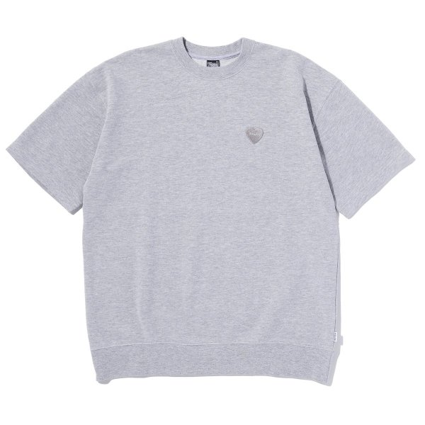 FURRYHEART BAGGY CREWNECK S/S TEE - GRAY HEATHER