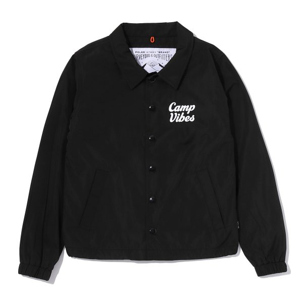 KIDS CAMP VIBES COACH JACKET - BLACK