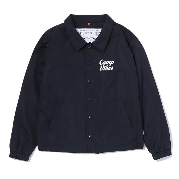 KIDS CAMP VIBES COACH JACKET - NAVY