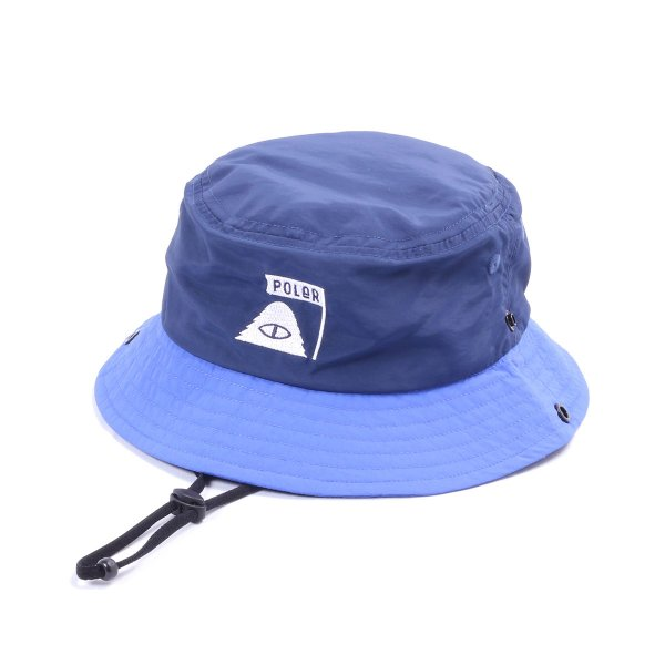 KIDS SUMMIT NYLON BUCKET HAT - NAVY/ROYAL