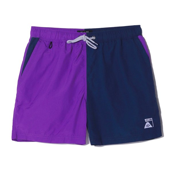 SUMMIT VOLLEY BAGGY 2WAY SHORT - PURPLE/NAVY