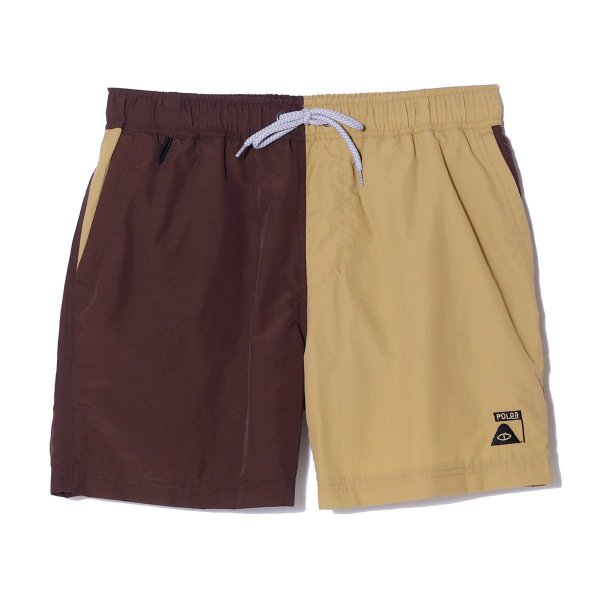 SUMMIT VOLLEY BAGGY 2WAY SHORT - BROWN/BEIGE