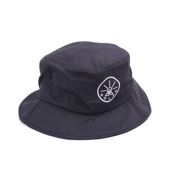 GOLDEN CIRCLE DRAWCORD BUCKET HAT - BLACK