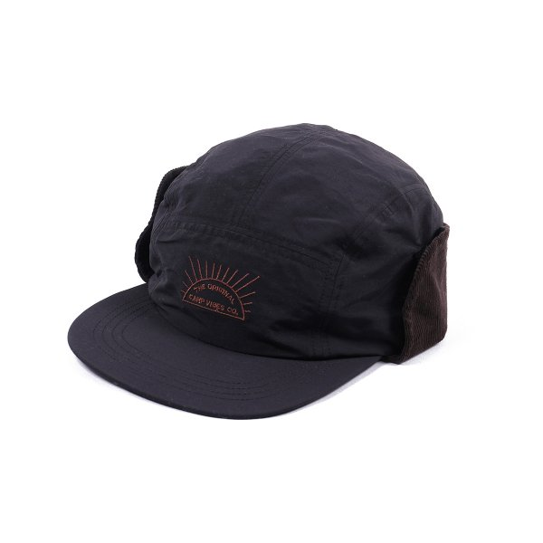RISING SUN 5PANEL CAP - BLACK