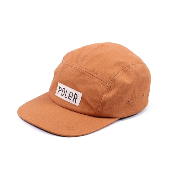 FURRY FONT 5PANEL DRAWCORD CAP -CARAMEL