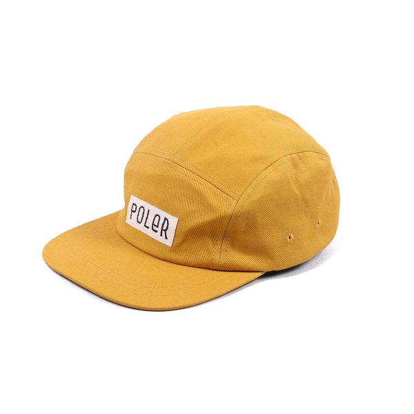 FURRY FONT 5PANEL DRAWCORD CAP -MUSTARD