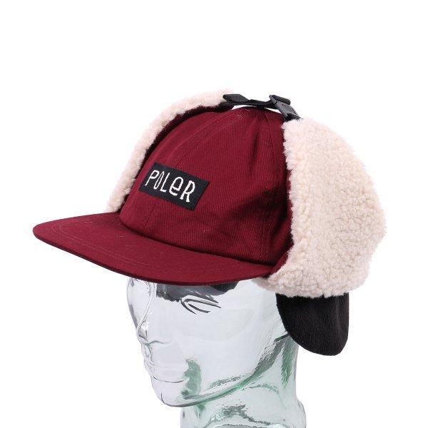 FURRY FONT EARFLAP CAP - CORDOVAN