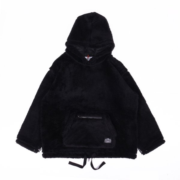 <img class='new_mark_img1' src='https://img.shop-pro.jp/img/new/icons16.gif' style='border:none;display:inline;margin:0px;padding:0px;width:auto;' />90'S SHEEP BOA FLEECE HOODIE - BLACK