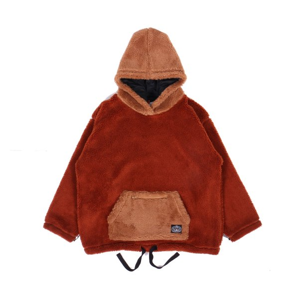 <img class='new_mark_img1' src='https://img.shop-pro.jp/img/new/icons16.gif' style='border:none;display:inline;margin:0px;padding:0px;width:auto;' />90'S SHEEP BOA FLEECE HOODIE - CHOCOLATE/CARAMEL