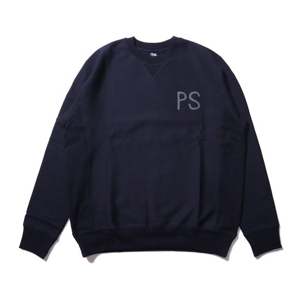 ELBOW PATCH HEAVY CREW NECK - NAVY