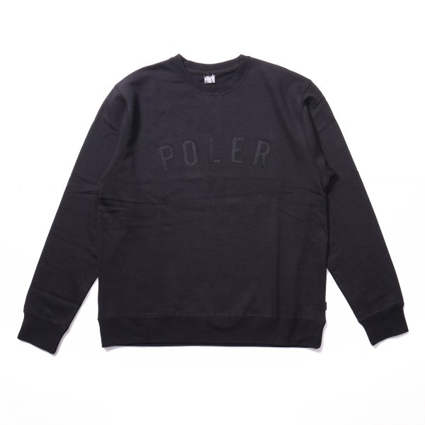 IVY STATE APPLIQUE CREW - BLACK