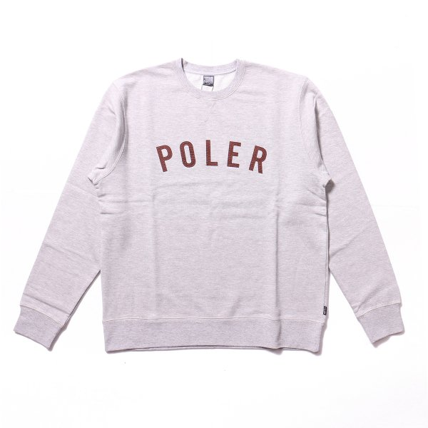 IVY STATE APPLIQUE CREW - HEATHER GRAY