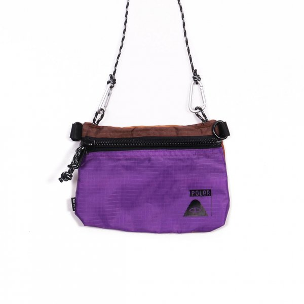 STUFFABLE POUCH SMALL - PURPLE/BROWN