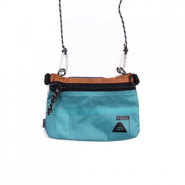 STUFFABLE POUCH LARGE - SAX/LT BROWN