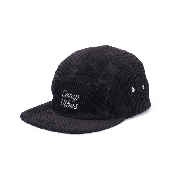 <img class='new_mark_img1' src='//img.shop-pro.jp/img/new/icons16.gif' style='border:none;display:inline;margin:0px;padding:0px;width:auto;' />CAMP VIBES 5PANEL CORDUROY CAP - BLACK